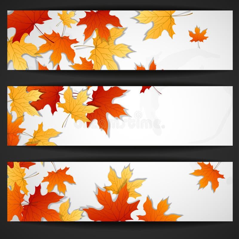 Autumn Leaves Background illustrazione di stock