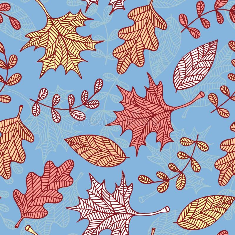 Autumn Leaves Background illustration de vecteur