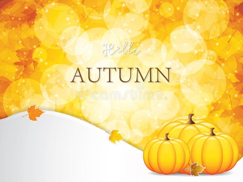 Autumn leaves background vector illustration