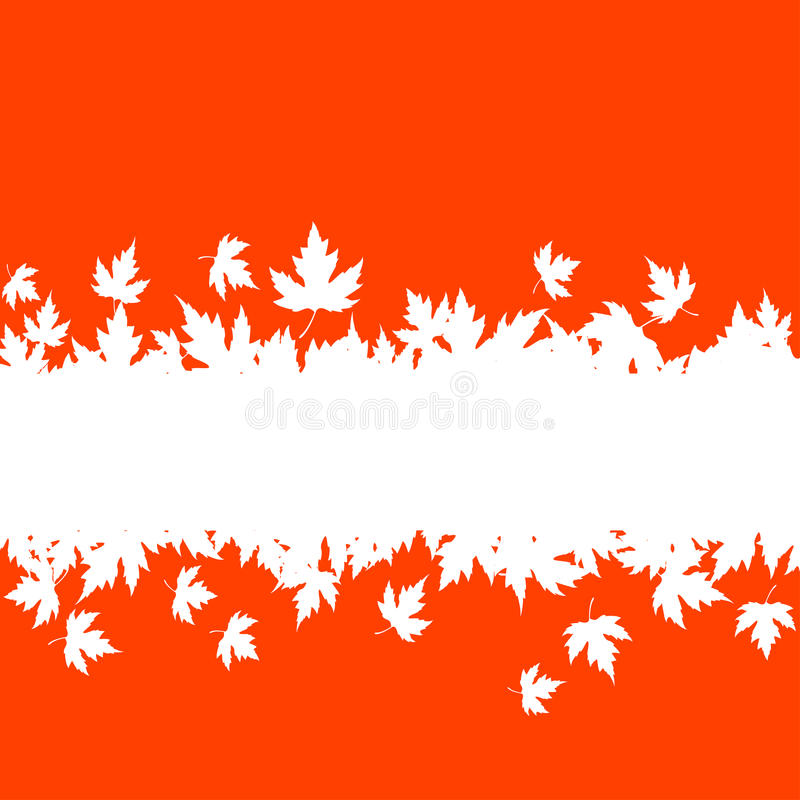 Autumn leaves background with plank royalty free illustration