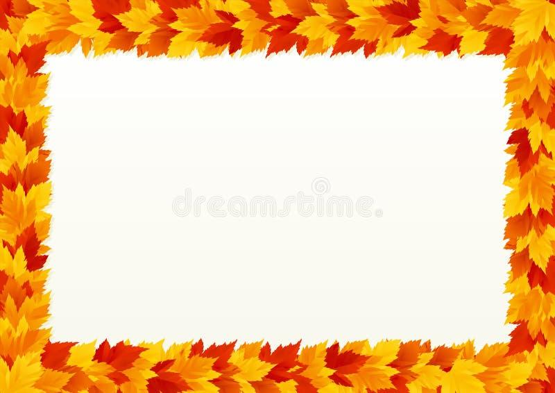 Autumn Leaves Border ilustración del vector
