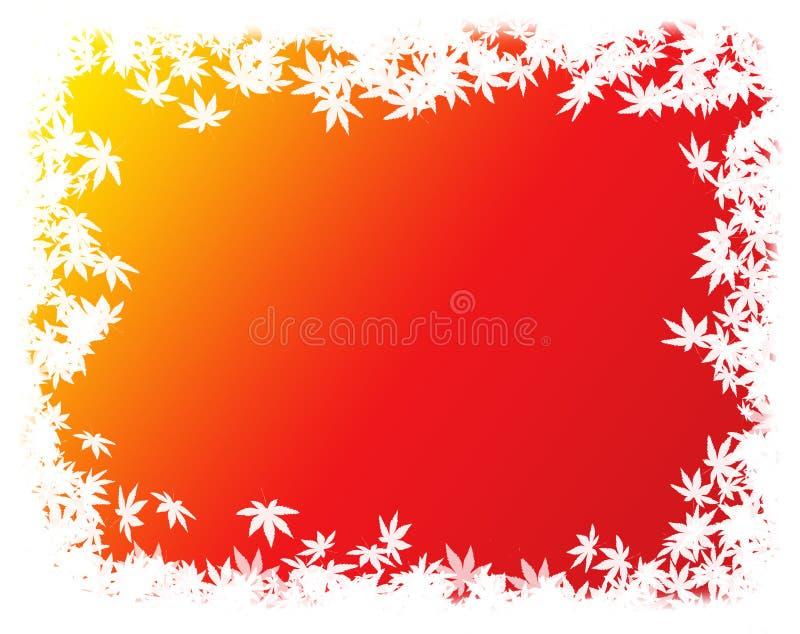 Autumn leaves border / frame royalty free stock photo