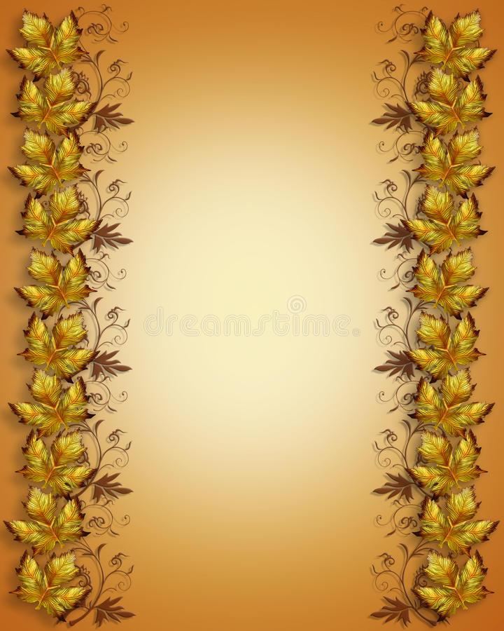 Autumn leaves border royalty free stock images