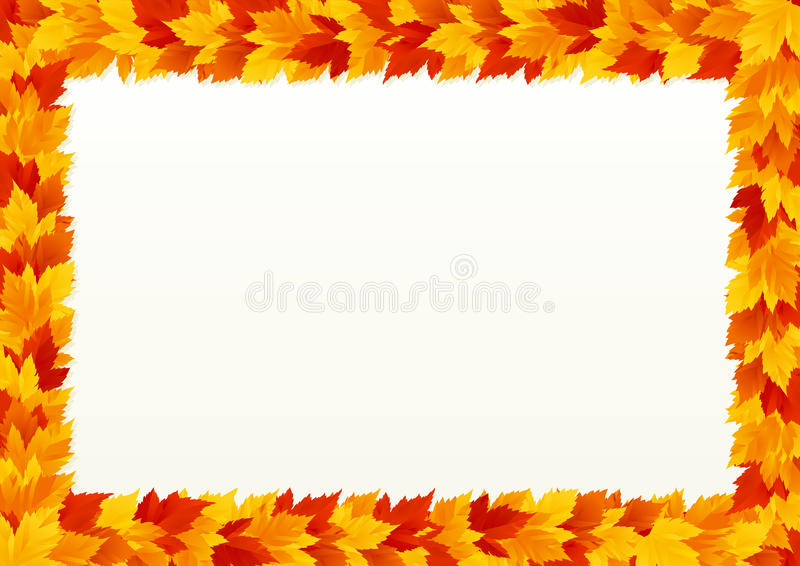 Autumn leaves border vector illustration