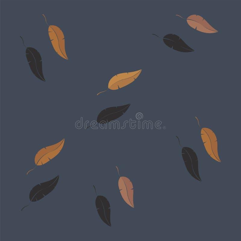 Autumn Leaves Falling Vector stockfoto