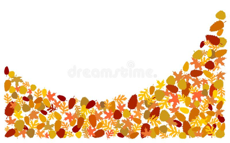 Autumn leaves form a bow. vector illustration