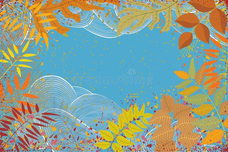 Autumn Leaves Frame ilustração stock