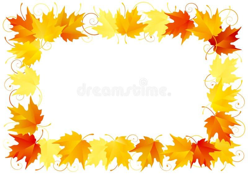 Autumn Leaves Frame stock de ilustración