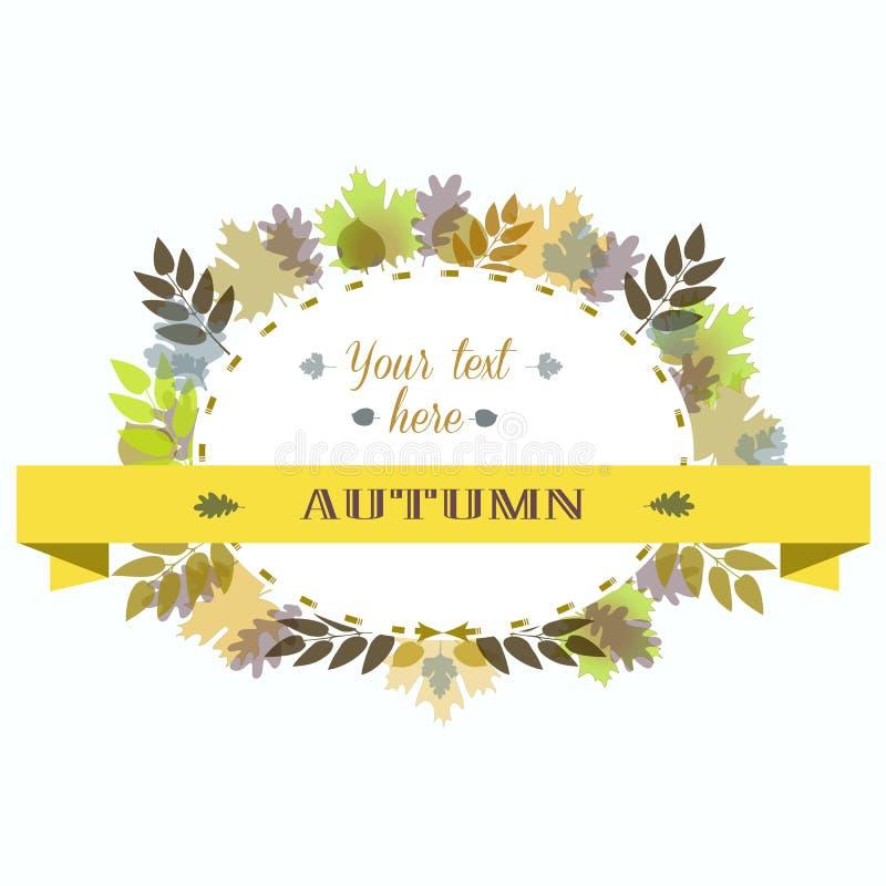 Autumn Leaves Frame Auch im corel abgehobenen Betrag stock abbildung