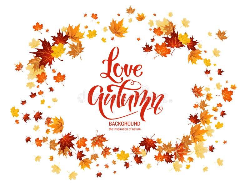 Autumn Leaves Frame stock illustratie