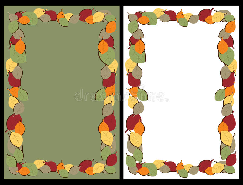 Download Autumn leaves frames stock vector. Image of corners, background - 15410041