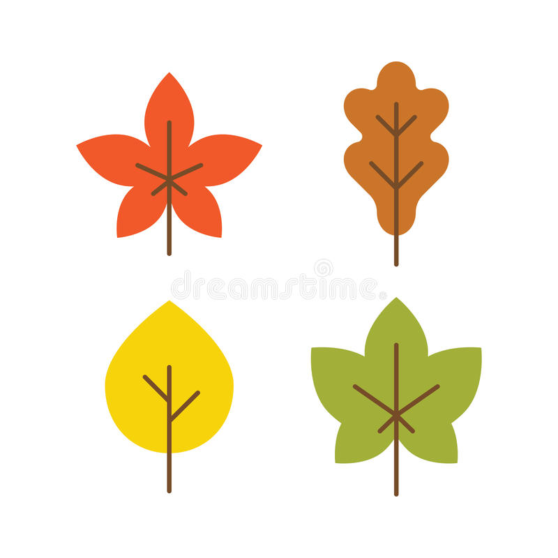 autumn leaves icon flat style vector stock vector illustration of rh dreamstime com fall leaves vector art fall leaves vector art