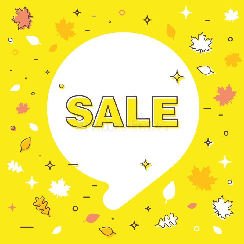 Autumn sale bubble. Template. Banner. vector illustration