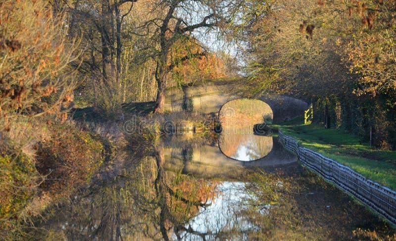 Autumn Leaves Llangollen Canal imagen de archivo