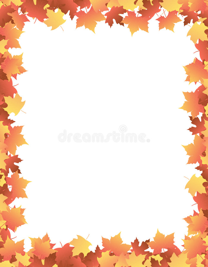 Autumn Leaves [maple] Border stock illustration