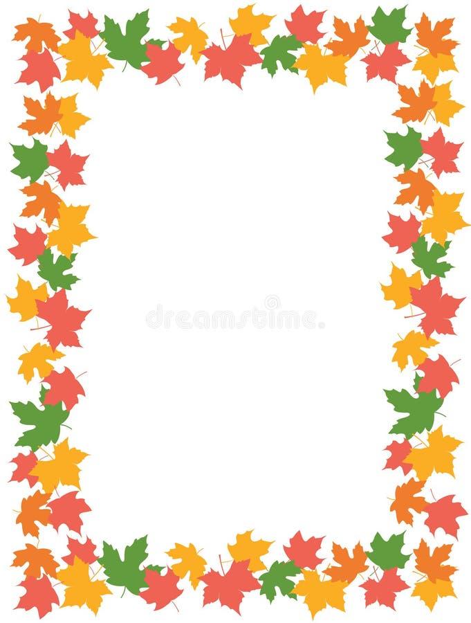 autumn leaves maple border stock vector illustration of good rh dreamstime com Verticle Landscape Clip Art Pumpkin Vines Clip Art