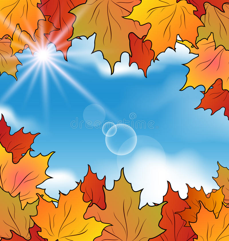 Download Autumn Leaves Maple, Sky, Clouds Royalty Free Stock Photography - Image: 33100577