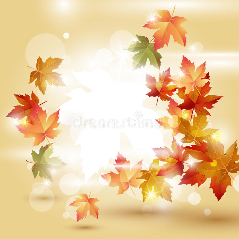 Download Autumn Leaves Over Bright Background Stock Vector - Image: 28238682