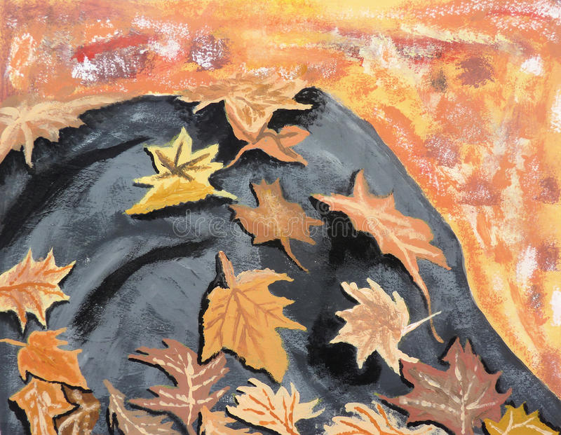 Download Autumn Leaves On Rock Royalty Free Stock Images - Image: 30719929