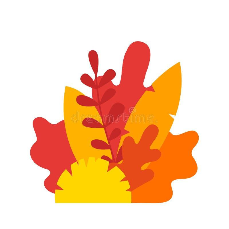 Autumn Leaves sammansättning Gult trädblad för vektor som isoleras på vit bakgrund Illustration av bokträdet, kastanj, lind, ek, vektor illustrationer