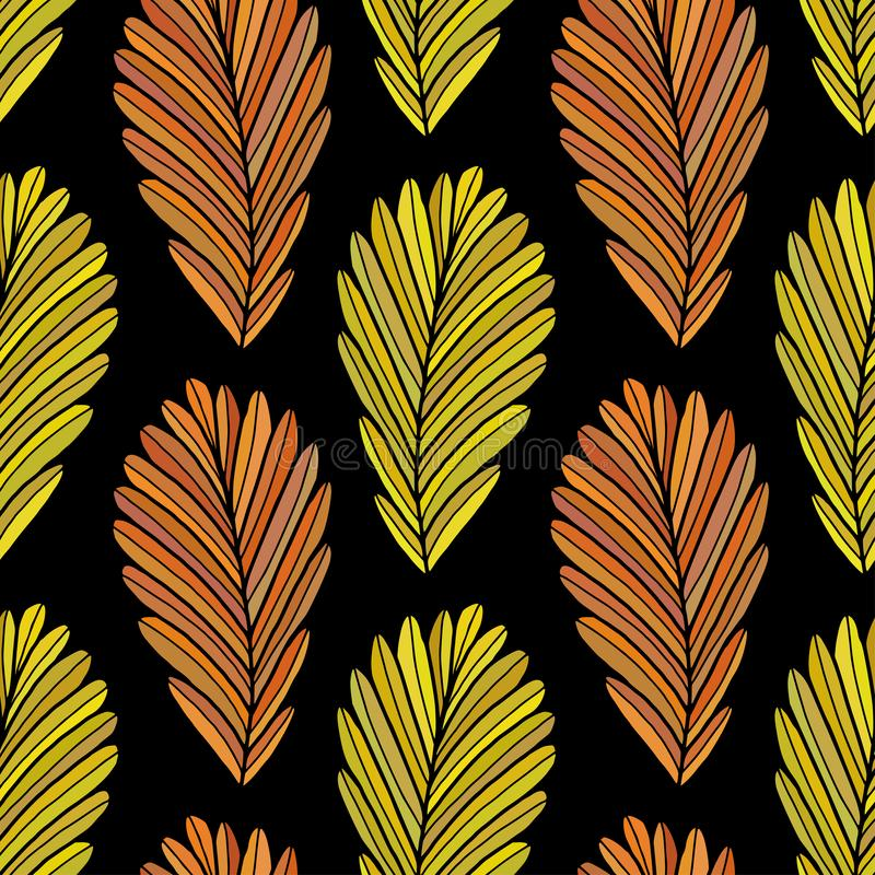 Autumn leaves seamless background. Fall vector pattern design. Leaves seamless pattern. vector illustration