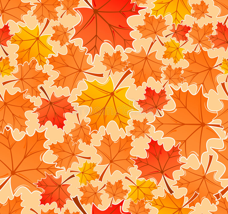 Free Autumn Leaves Seamless Pattern Royalty Free Stock Image - 2953676
