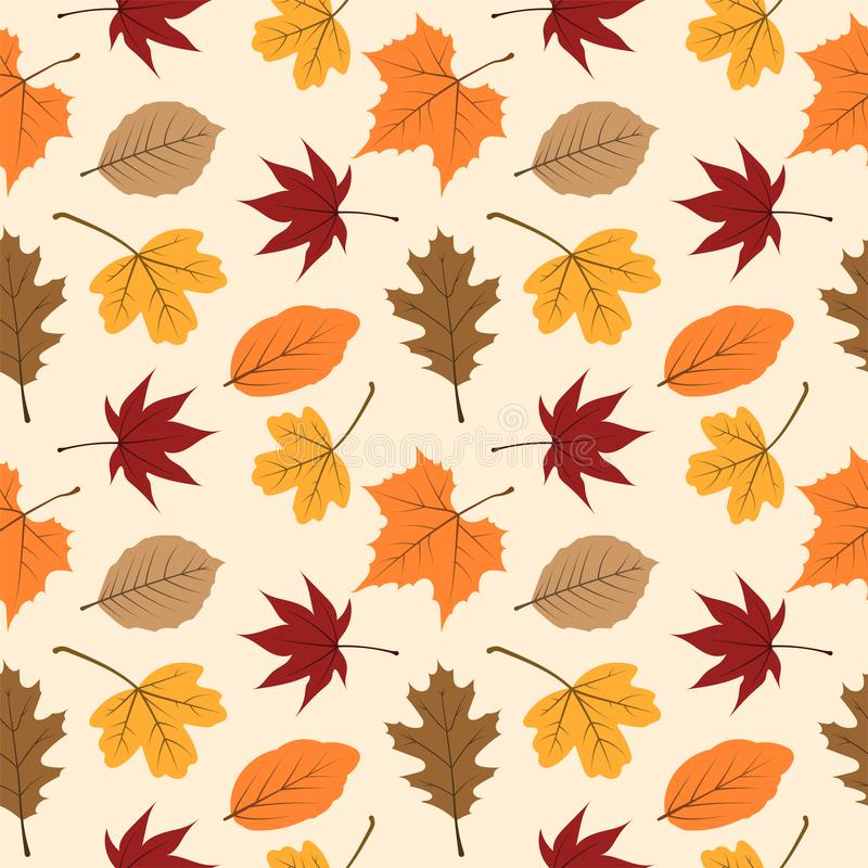 Autumn leaves seamless pattern 04 royalty free stock photography