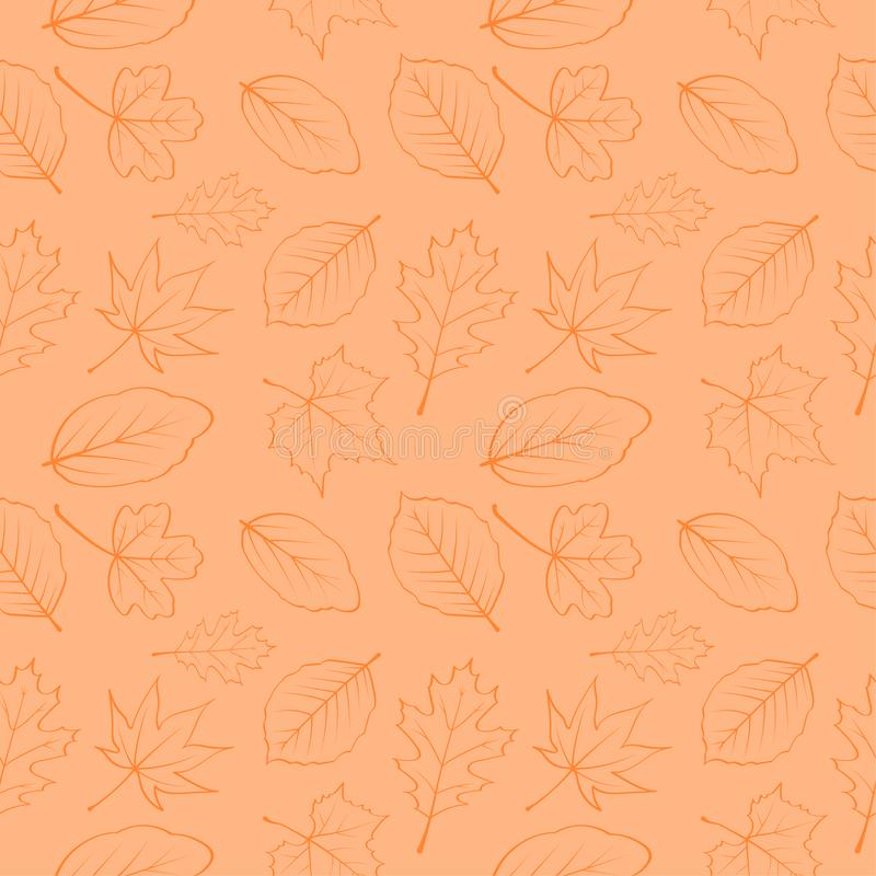 Autumn leaves seamless pattern 06 royalty free stock photography