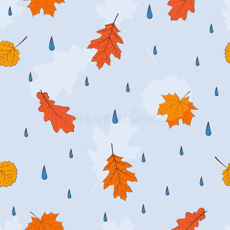 Autumn leaves seamless pattern royalty free illustration