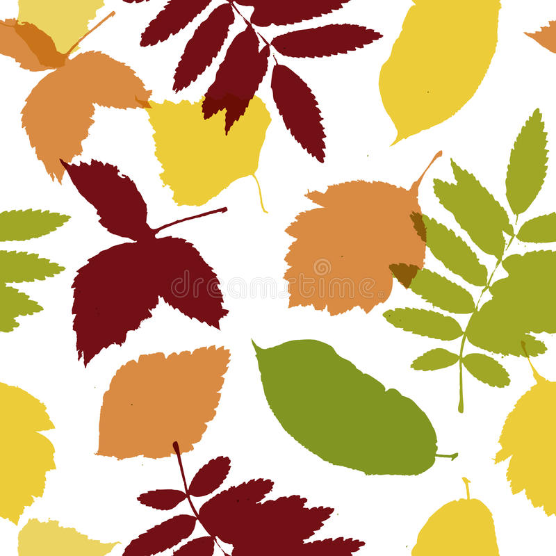 Autumn Leaves Seamless Pattern For Your Design Royalty Free Stock Photography