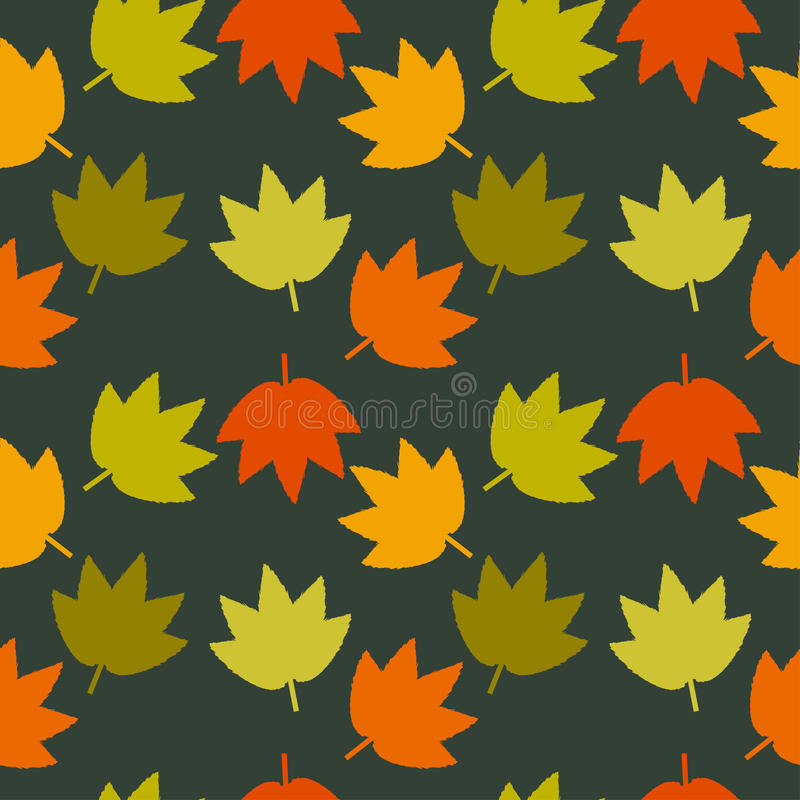 Autumn Leaves Seamless Texture illustration libre de droits