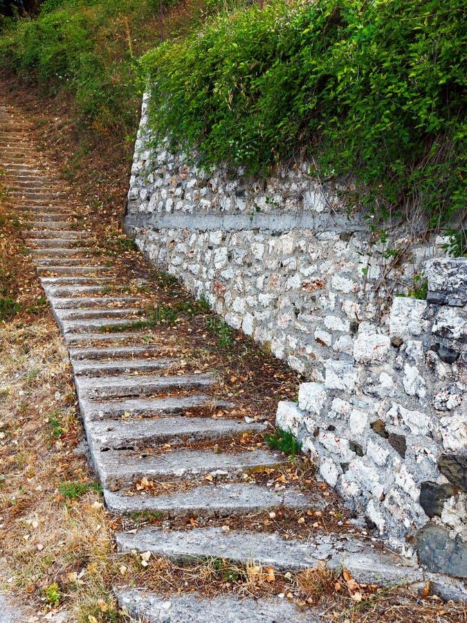 Autumn Leaves sur la voie faite un pas photo stock