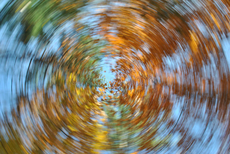 Autumn Leaves Swirl stock de ilustración