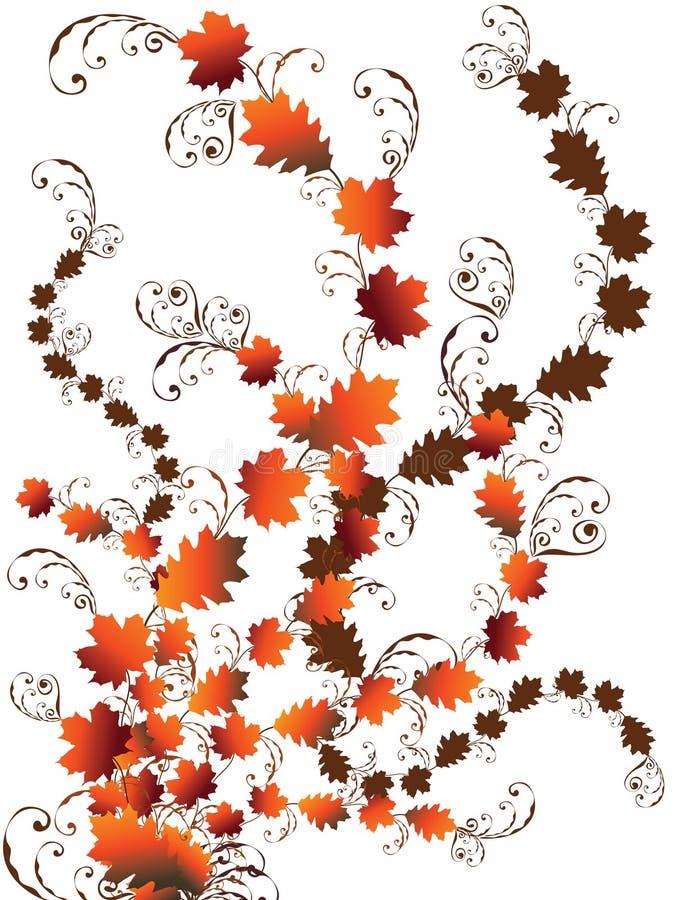 Download Autumn leaves swirls stock vector. Illustration of maple - 3032034