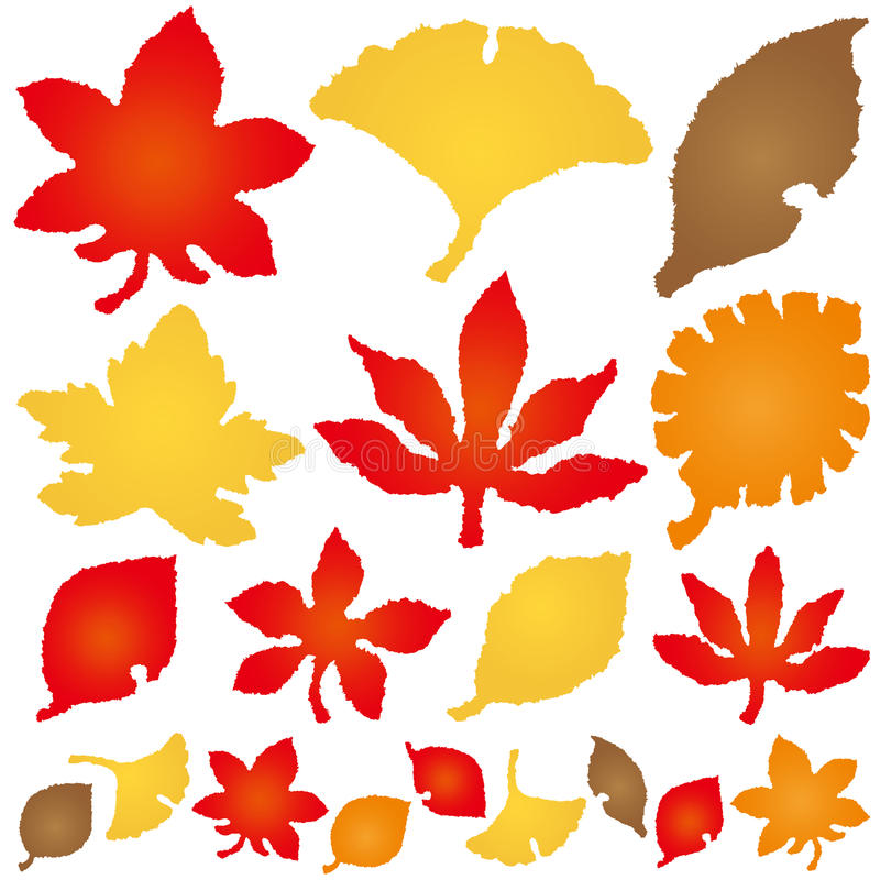 Download Autumn Leaves. Torn Paper Icons. Stock Vector - Illustration: 43695600