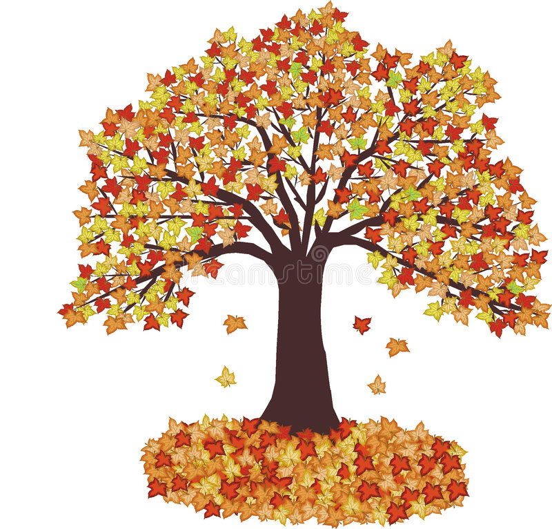 Download Autumn Leaves And Tree - Vector Stock Photo - Image: 1433880