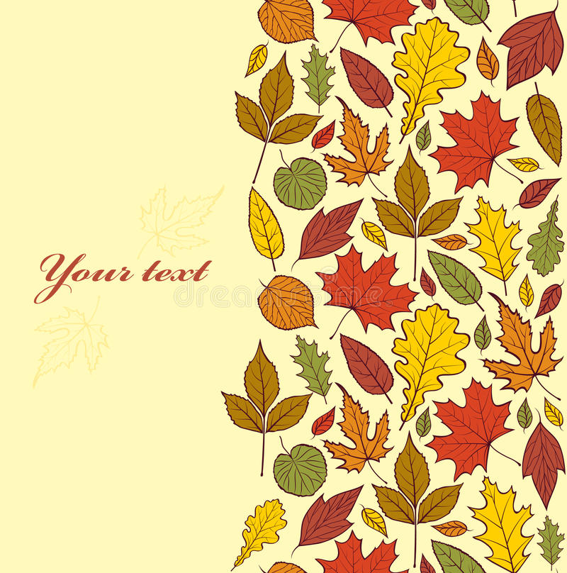 Download Autumn leaves stock vector. Image of illustrations, ornate - 32928572