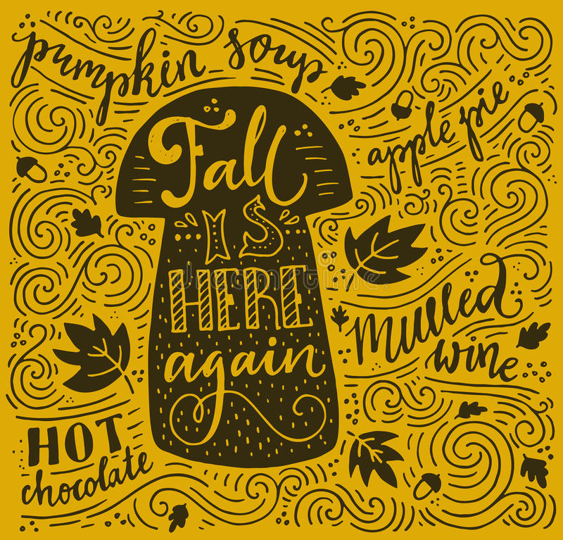 Free Autumn Lettering Royalty Free Stock Image - 60210636