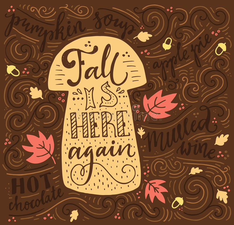 Free Autumn Lettering Stock Photo - 61690030