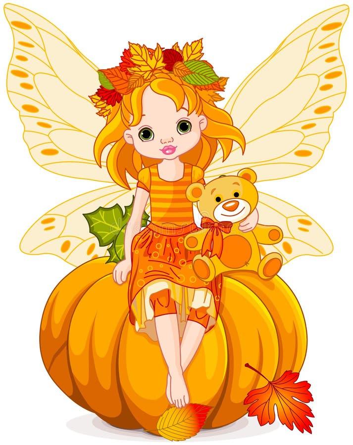 Autumn Little Fairy stock illustratie