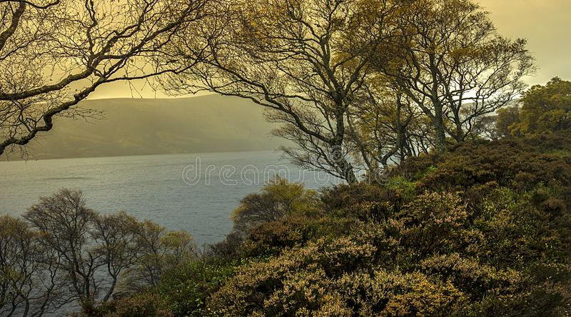 Autumn at Loch Muick. Balmoral Estate, Ballater, Aberdeenshire, United Kingdom. Autumn at Loch Muick in Royal Deeside. Ballater, Aberdeenshire, Scotland, UK royalty free stock photography