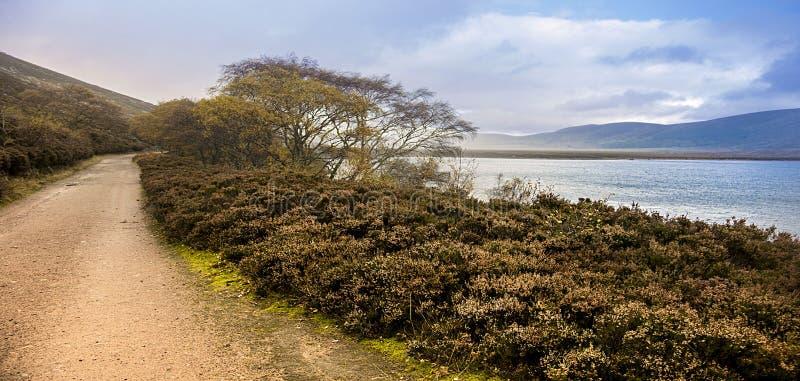 Autumn at Loch Muick. Balmoral Estate, Ballater, Aberdeenshire, United Kingdom. Autumn at Loch Muick in Royal Deeside. Ballater, Aberdeenshire, Scotland, UK royalty free stock photo