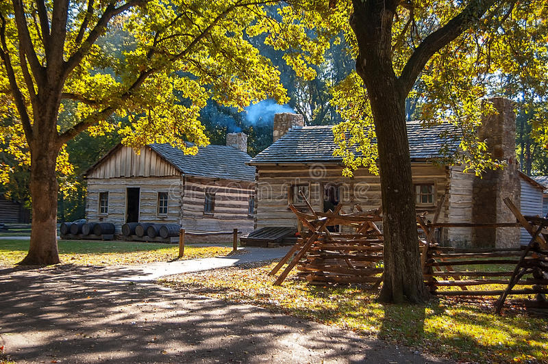 Autumn Log Cabin royalty free stock photo