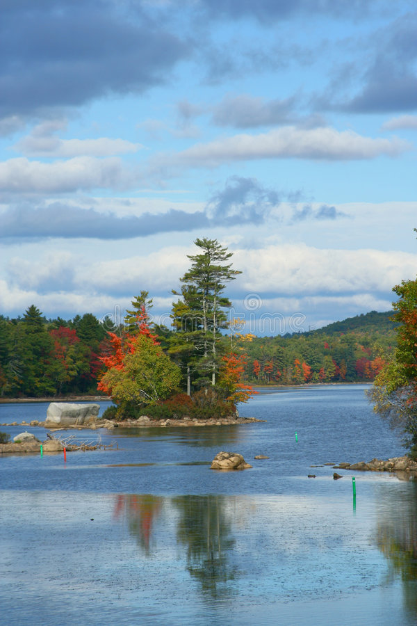 Autumn in Maine royalty free stock photos