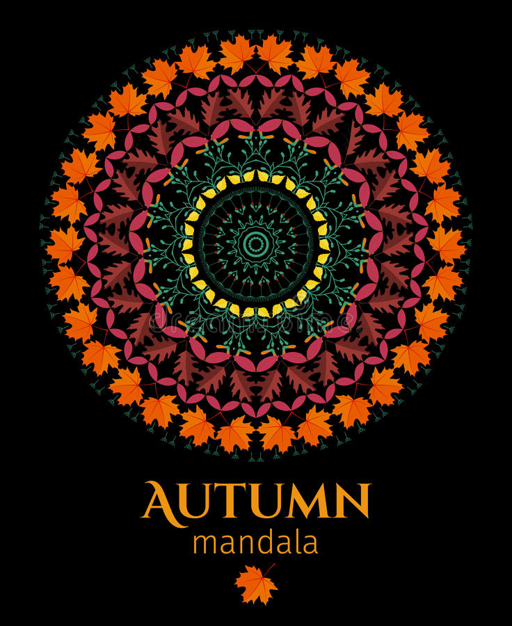 Free Autumn Mandala Stock Photography - 58109972
