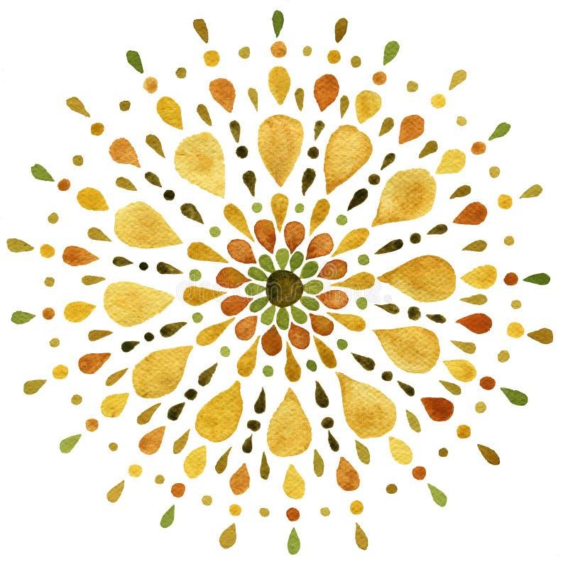 Free Autumn Mandala Illustration Royalty Free Stock Images - 162594589