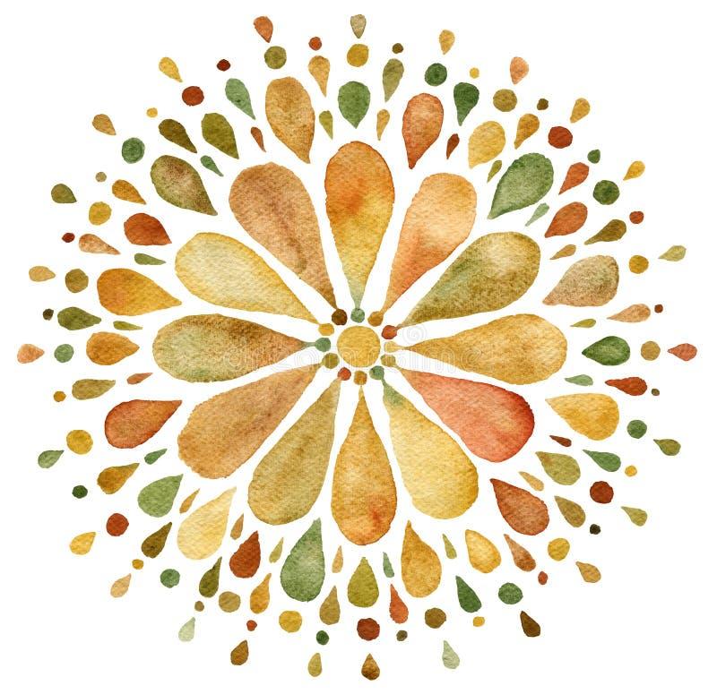 Free Autumn Mandala Illustration Royalty Free Stock Images - 162594679