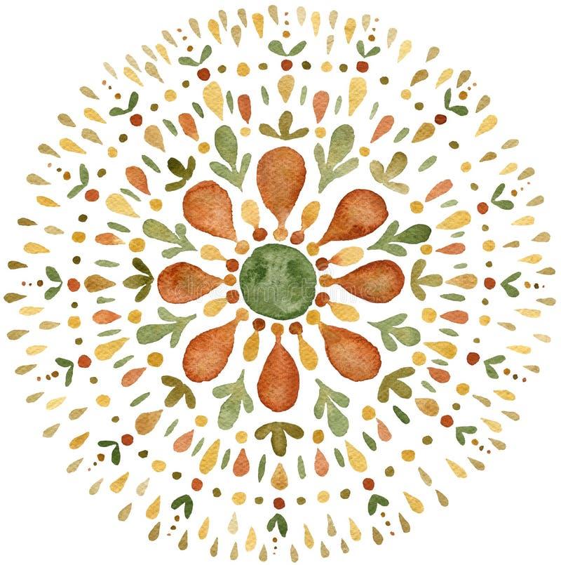 Free Autumn Mandala Illustration In Earth Tones Stock Photography - 162594562