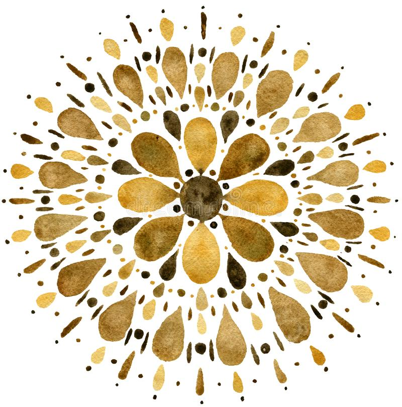 Free Autumn Mandala Illustration In Earth Tones Stock Images - 162594604