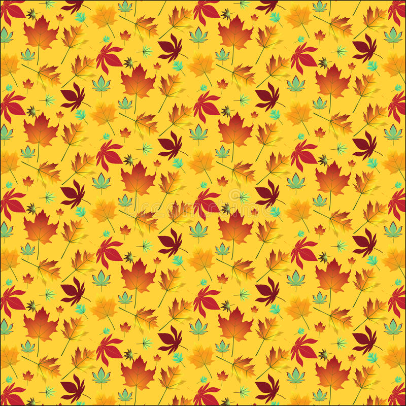 Download Autumn maple leaves stock vector. Image of yellow, colorful - 27498806
